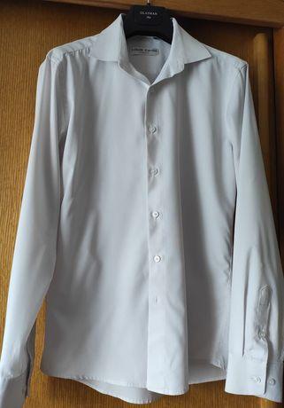 Продам белую шелковую рубашка с длинным рукавом LOUIS Cardin, размер S