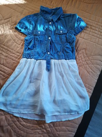 Детска дънкова рокля Guess - 6 годишно момиче