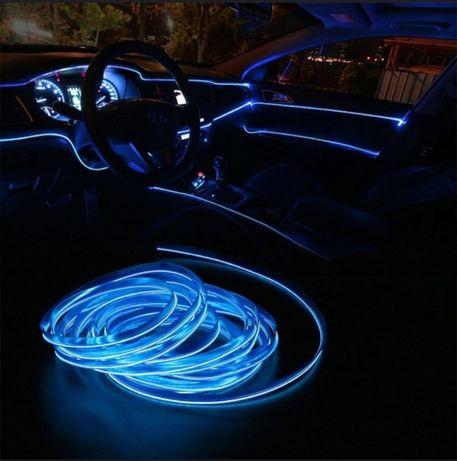 Lumina ambientala Auto 2M Bord Fete Usi Interior Fir Neon Led Flexibil