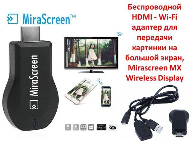 Беспроводной HDMI - Wi-Fi адаптер для передачи картинки с тел на ТВ
