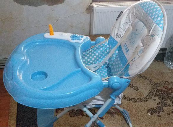 Детско столче син цвят