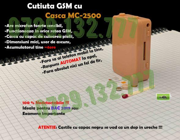 Casca de Copiat Fara Telefon - Cutiuta GSM NeDetectabila Casti Copiat