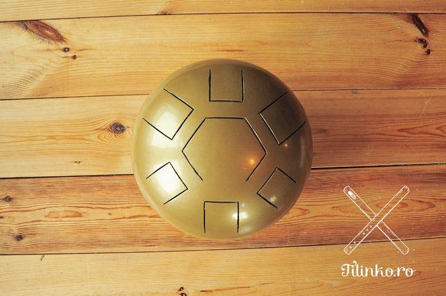 Tankdrum auriu - tobă făcut în România