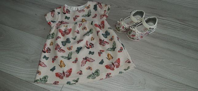 Rochita Zara BabyGirl+Pantofiori Laura Biagiotti