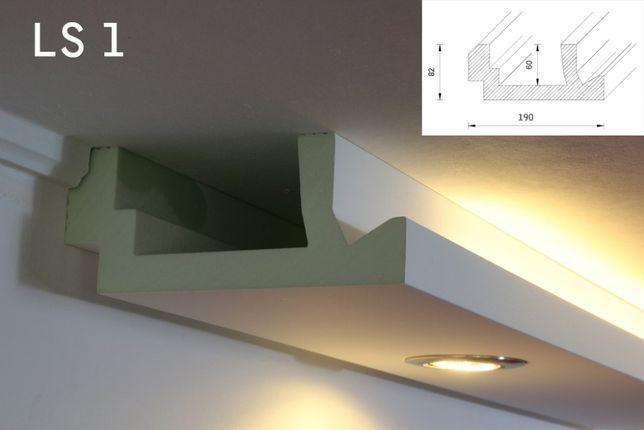 SCAFA BANDA LED, scafe decorative polistiren, scafa tavan rigips LS 1