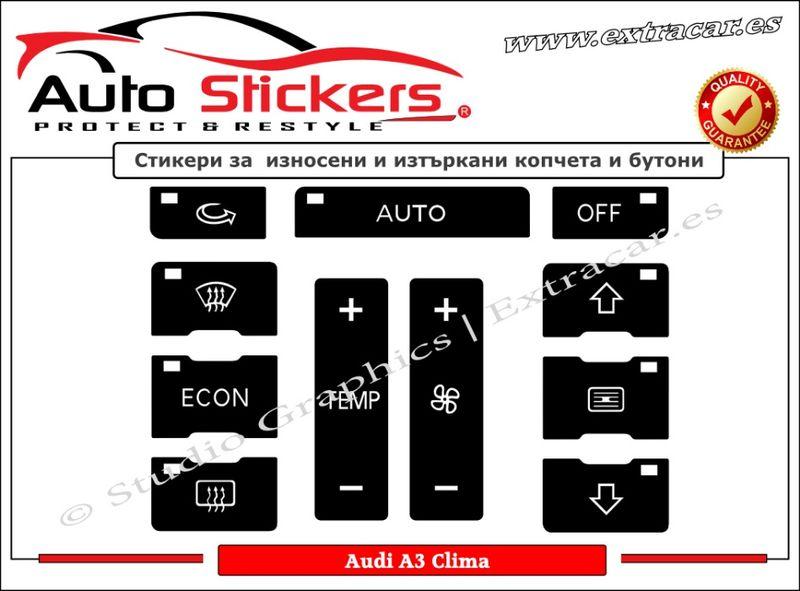 Стикери (Лепенки) за износени и изтъркани копчета и бутон-Audi A2/А3 гр. София - image 1