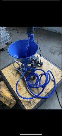 Pompa glet amorsa tinci vopsea var sprit snec 220v 25L cuva vopsit