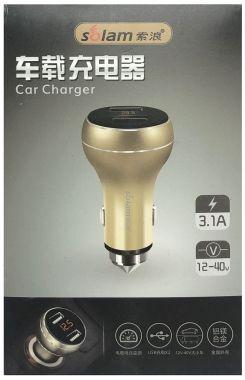 Sursa de alim., cu voltmetru/ampermetru, 12/24V → 2x5V/3.1A - USB A