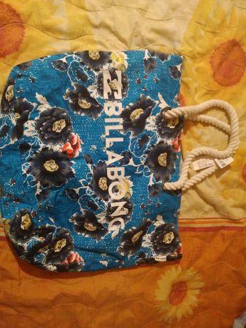 оригинална чанта Billbong Чанта от естествена кожа за път и чанта плик