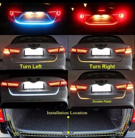 Banda LED Portbagaj Diferite Functii- Semnalizare Dinamica Avarie Stop