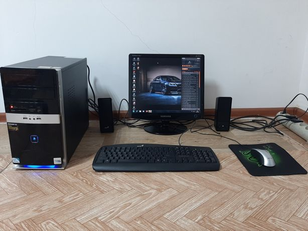 Компьютер комплект 2ядерный Память 250ГБ ЖК монитор Компютер