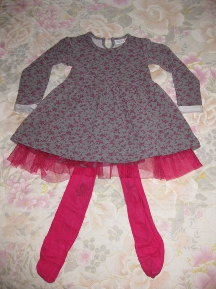 Уникална рокличка с чорпогащник за малка принцеса