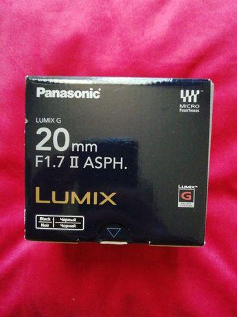Obiectiv Panasonic Lumix G 20mm F1.7 II Asph Nou