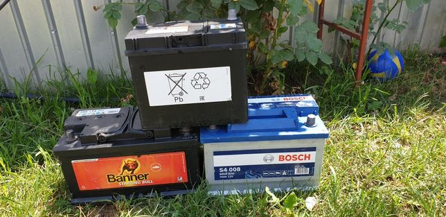 Vând 3 Bateri Auto BOSCH,HONDA,BANNER 74Ah-48Ah-80Ah