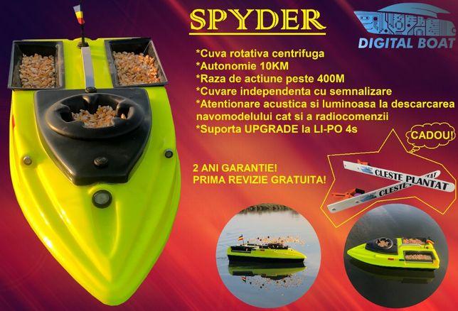 Navomodel plantat SPYDER cuva centrifugă (barca/barcuta/nadit/pescuit)