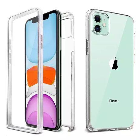 Iphone 11 12 MINI / PRO / MAX Husa 360 Fata Spate Plastic Transparenta