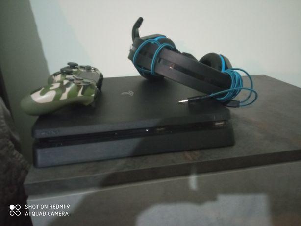 PS4 slime+controller militar+căști scorpion