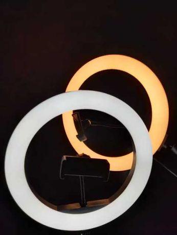 +ШТАТИВ! Кольцевая Лампа 26 см  LED, цветная и обычная M-26