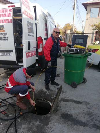 Desfundare canalizare și inspecție video vidanjare