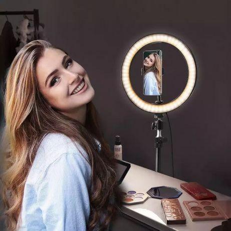 Селфи LED лампа кольцевая 26 см + подарок штатив 2метр Подарок на 8 ма