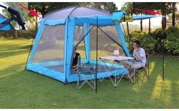 1328 Палатка Шатер с полом прочная высокая компактная с полом