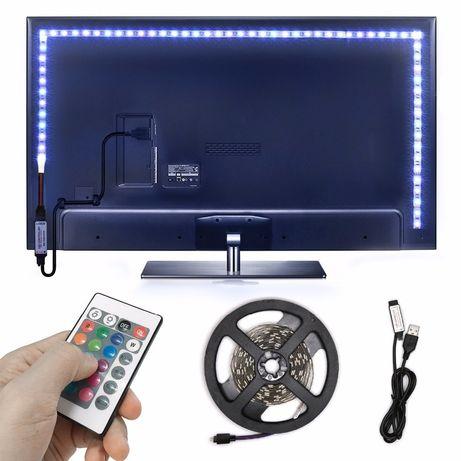 2м. USB LED лента за фоново осветление зад телевизор/монитор