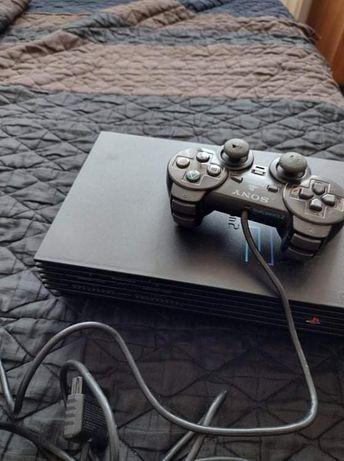 Ps2 modat pe card cu 3 jocuri și maneta cabluri etc