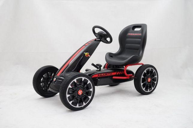 Kart cu pedale pentru copii FIAT500 ABARTH (9388) negru