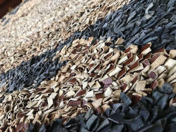 Рошав килим от естествена кожа - 150x205 см, различни цветове