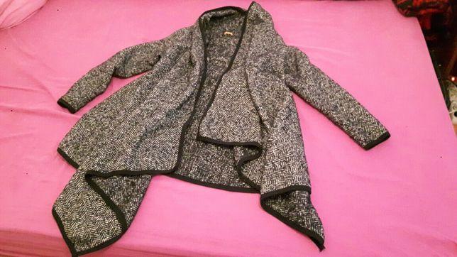 Pardesiu Irina Schrotter - trenci de lana, dama, elegant, asimetric