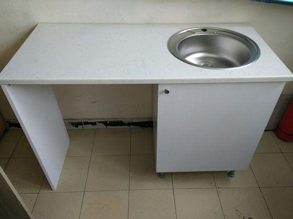 Нов Кухненска шкаф мивка с място за пералня Кухни по поръчка