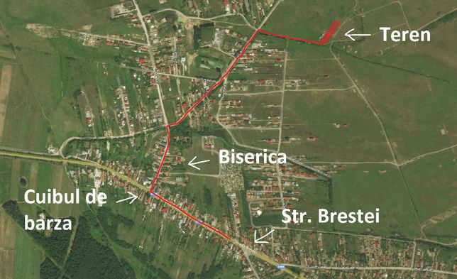 Teren 4600 mp Cernele - Craiova , Deschidere 27 ml !!!