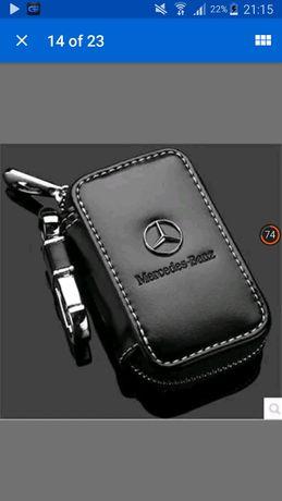Breloc piele husa cheie Mercedes deosebit