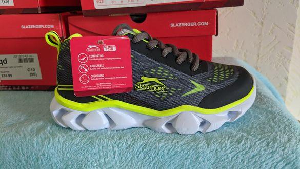 Нови детски маратонки NIKE и Slazenger светещи и сандали