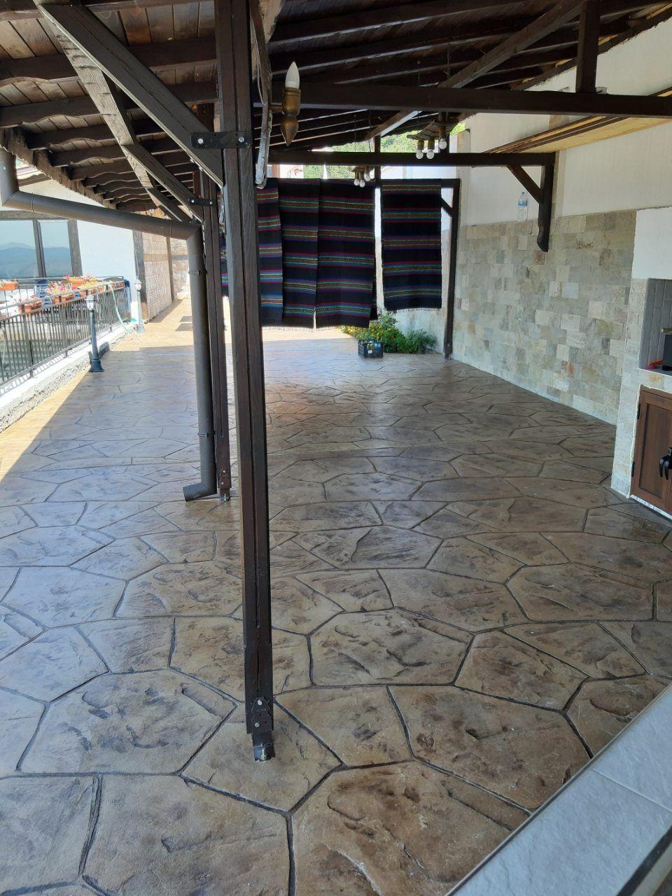 Изработка на щампован бетон
