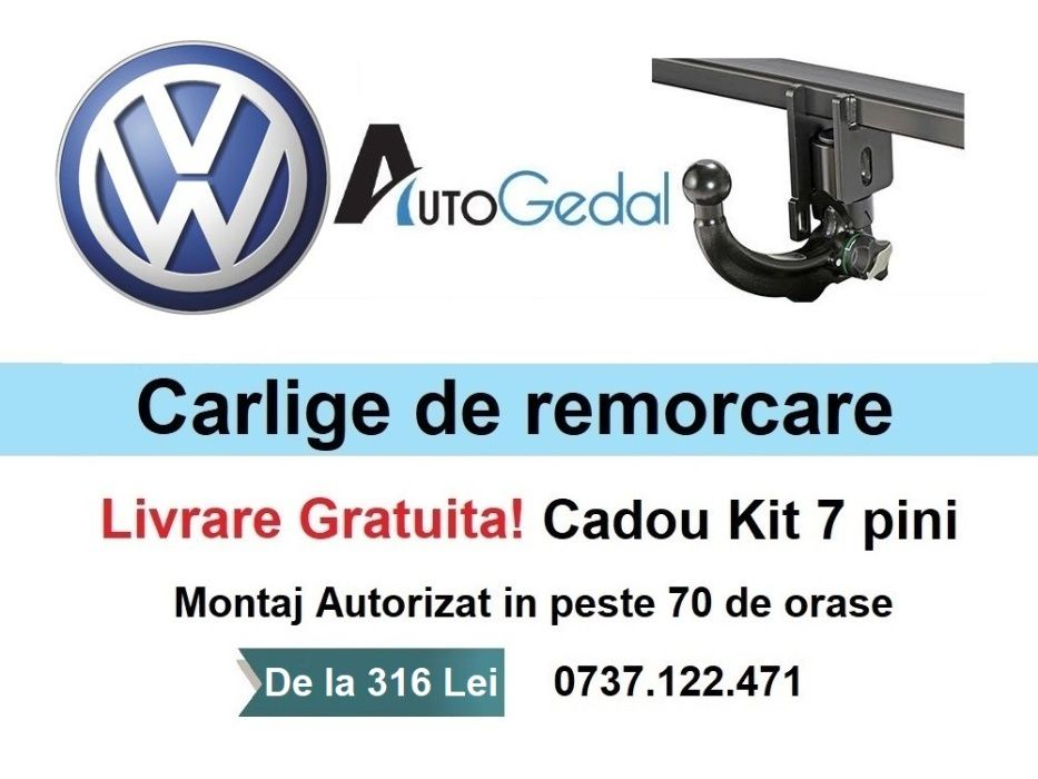 Carlig Remorcare VW Golf, Passat, Polo, Crafter,Tiguan,Transporter etc Resita - imagine 1