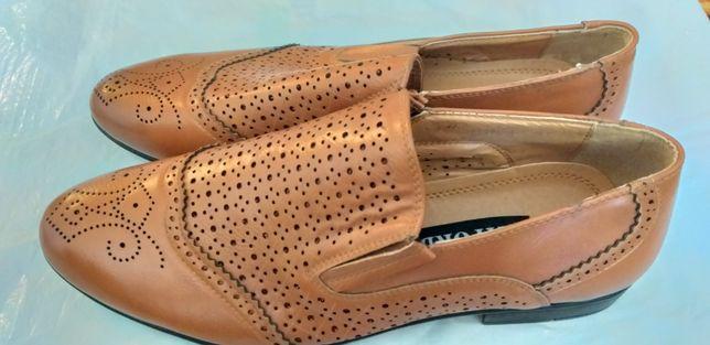 Срочно продам мужские туфли кожа.