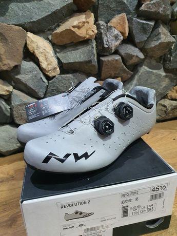 Pantofi ciclism sosea Northwave Italia silver reflectorizant