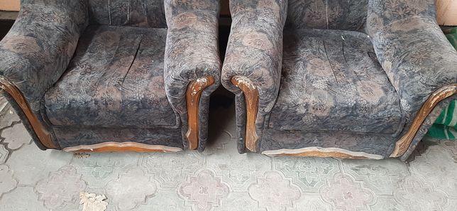 Кресло два кресло велюр