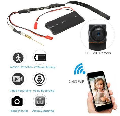 WiFi мини шпионска камера за отдалечено наблюдение/запис карта памет/