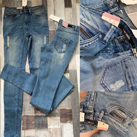 Jeans noi cu eticheta, slim fit size 27/32 sau 28/32