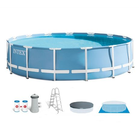 Set Piscina Intex 4.57 x 84 cm Cu pompa si scara