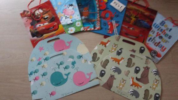 10 броя детски големи нови пликове за подаръци-12лв.