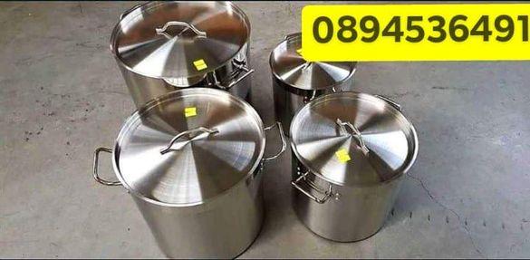Казани за ток и газ от неръждаема стомана 2мм с подсилено дъно.4модела