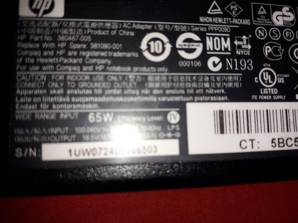 Încărcător laptop HP18,5 v 3,5 A