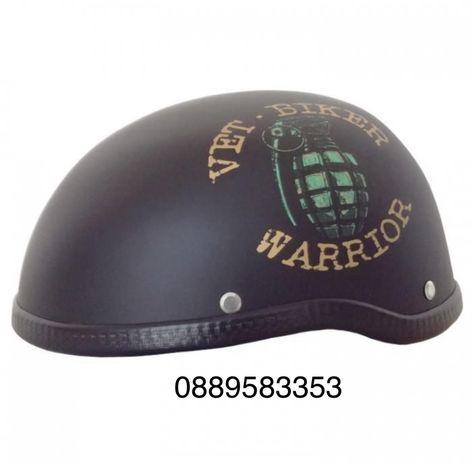 Каска за мотор - 2499 - 3 граната черен мат