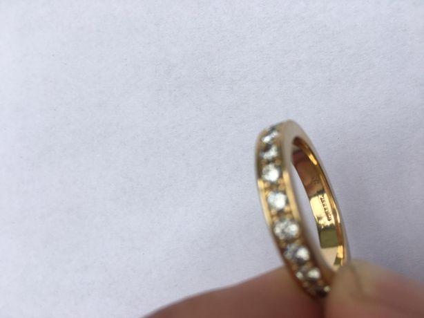 Inel aur 18k unisex cu 13 diamante