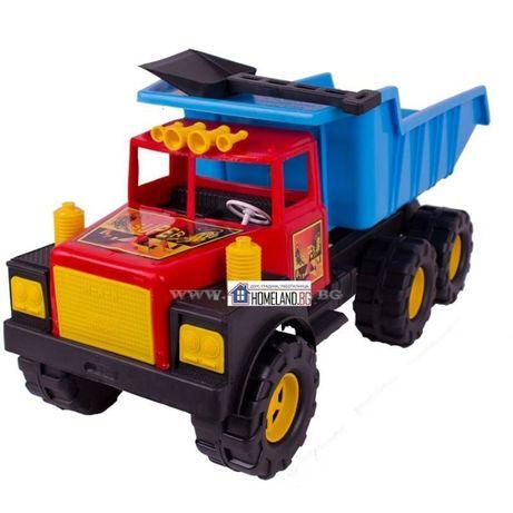 Голям детски камион за бутане с крака с ПОДАРЪК лопата