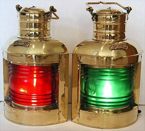 Lanterne, felinare de vapor-corabie... babord-roșu și verde la tribord
