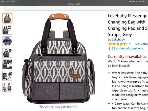 Чанта за бебешки принадлежности